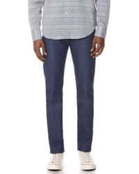 Naked & Famous - Workman Blue Selvedge Jeans - Lyst