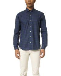 Culturata - Spread Collar Plaid Shirt - Lyst