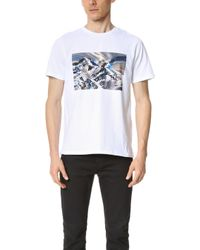 Buy Cheap Geniue Stockist A.P.C. Montagne Tee in White Sale Shop Offer Sale Reliable Visa Payment Sale Online Outlet With Paypal Order Online 0RaNpEhaYk