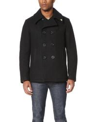 Gerald & Stewart - Wool Quilt Lined Pea Coat - Lyst