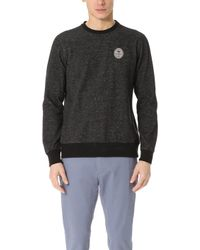 RVCA - Anchor Palm Crew Pullover - Lyst