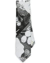 The Hill-side - Big Halftone Floral Print Tie - Lyst