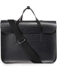 Cambridge Satchel Company | Stamped Croc Large Folio Briefcase | Lyst