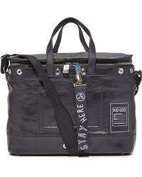 KENZO - Kanvas Leather Briefcase - Lyst