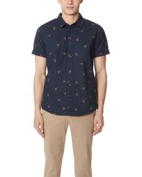 RVCA - Tridot Short Sleeve Shirt - Lyst