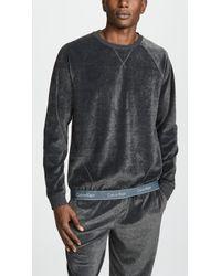 Calvin Klein - Modern Long Sleeve Cotton Stretch Velour Sweatshirt - Lyst