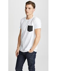 Naked & Famous - Pocket Tee - Lyst