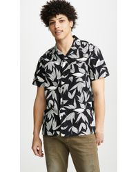 J.Crew - Wallace & Barnes Camp Collar Printed Shirt - Lyst