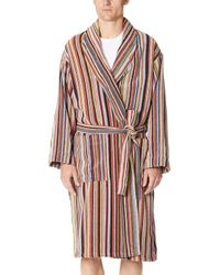 27281d20d3e0 Paul Smith Multi Stripe Piping Dressing Gown in White for Men - Lyst