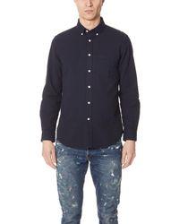 Portuguese Flannel - Atlantico Seersucker Long Sleeve Shirt - Lyst