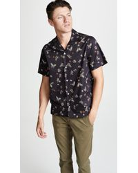 Saturdays NYC - Canty Lacquer Butterfly Short Sleeve Shirt - Lyst