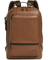 Tumi - Harrison Bates Leather Backpack - Lyst