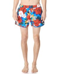 AMI - Floral Swim Trunks - Lyst