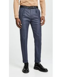 Paul Smith - Pleated Front Trousers - Lyst