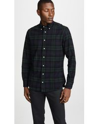 Gitman Brothers Vintage - Blackwatch Flannel Shirt - Lyst