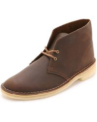 Clarks - Leather Desert Boots - Lyst