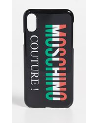 Moschino - Tricolor Logo Iphone X Case - Lyst