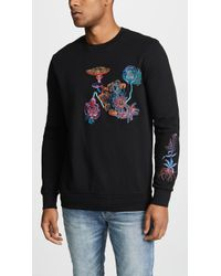 Paul Smith - Sweatshirt With All Over Embroidery - Lyst