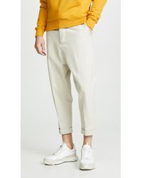 AMI - Oversized Carrot Trousers - Lyst