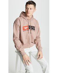DIESEL - S-division Hooded Sweatshirt With 90's Logo - Lyst