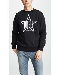 DIESEL - S-gir-ya Crew Neck Sweatshirt - Lyst