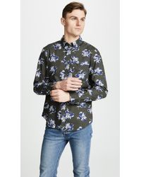 Club Monaco - Slim Felting Floral Shirt - Lyst