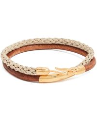 Caputo & Co. - Leather Cord And Jute Bracelet - Lyst