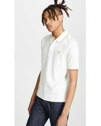 Fred Perry - Fine Tipped Pique Shirt - Lyst