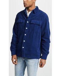 Saturdays NYC - Magnus Heavy Cord Shirt | Cobalt - Lyst