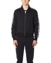 Versus - Checkerboard Taped Track Jacket - Lyst