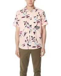 RVCA - Moonflower Short Sleeve Shirt - Lyst