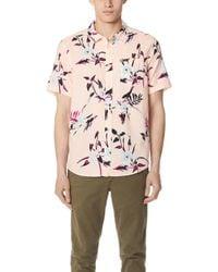 RVCA - Moonflower Short Sleeve Shirt - Lyst