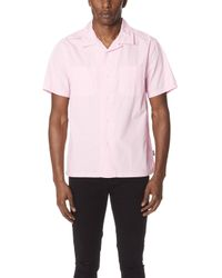 Stussy - Open Collar Short Sleeve Shirt - Lyst