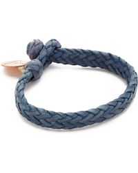 Chamula - Wide Flat Woven Leather Bracelet - Lyst
