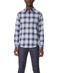 Vince   Shadow Plaid Shirt   Lyst
