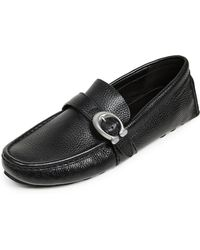 COACH - Crosby C Buckle Driver Shoes - Lyst