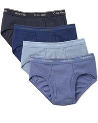 CALVIN KLEIN 205W39NYC - 4 Pack Cotton Classic Low Rise Hip Briefs - Lyst