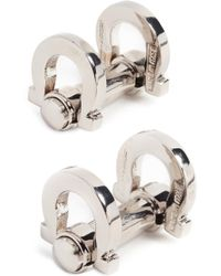 Ferragamo - Double Gancini Cufflinks - Lyst