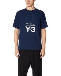 Y-3 - M Stacked Logo Tee - Lyst