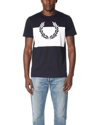 Fred Perry - Laurel Wreath Print T-shirt - Lyst
