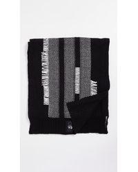 Y-3 - Black Knit Scarf - Lyst