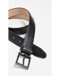 Ted Baker - Leather Keeper Plate Belt - Lyst