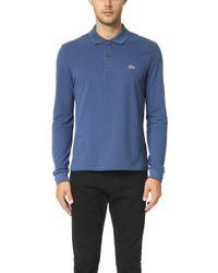 Lacoste - Long Sleeve Classic Pique L.12.12 Original Fit Polo Shirt - Lyst