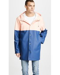 Stutterheim - Stockholm Blocked Raincoat - Lyst