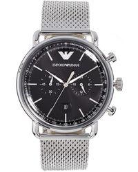 Emporio Armani - Aviator Watch, 43mm - Lyst