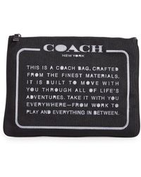 COACH - Large Pouch - Lyst