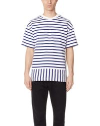 Public School - Daryl Short Sleeve Striped Tee - Lyst