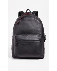 HUGO - Victorian Leather Backpack - Lyst