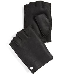 PS by Paul Smith - Sheepskin Fingerless Gloves - Lyst