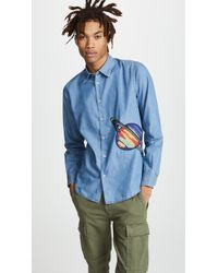 Paul Smith - Saturn Embroidery Slim Fit Shirt - Lyst